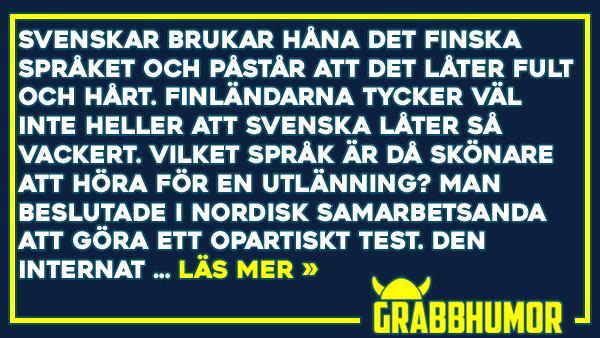 Är finska eller svenska det fulaste språket