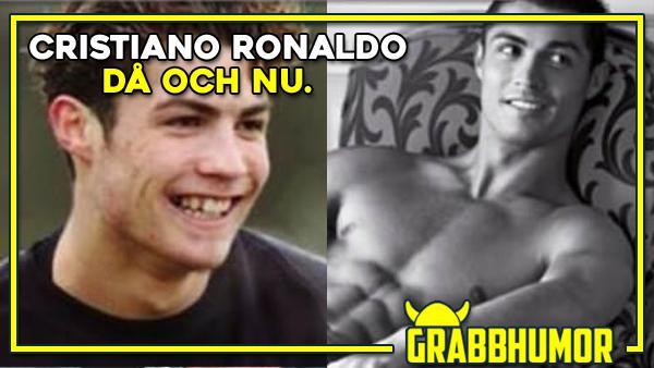 Cristiano Ronaldo då och nu
