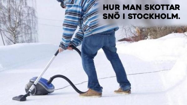 Hur man skottar snö i Stockholm